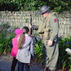 Gareth dressed in his WW2 army uniform