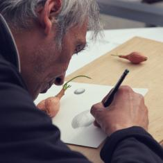 Billy Burman at Trengwainton botanical illustration Spring course